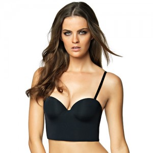Felina Essentials Longline Strapless Convertible Bra - Black