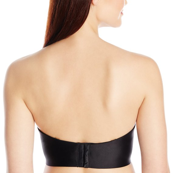 Felina Essentials Longline Strapless Convertible Bra - Black Back