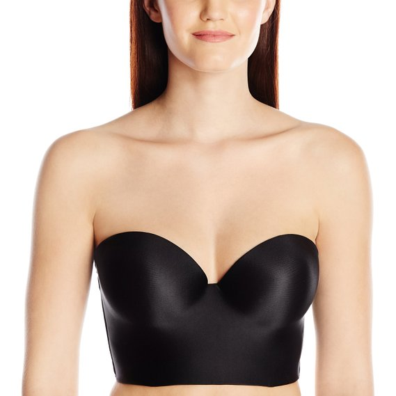 Felina Essentials Longline Strapless Convertible Bra - Black Front