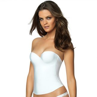Felina Essentials Seamless Hidden Wire Bustier – White